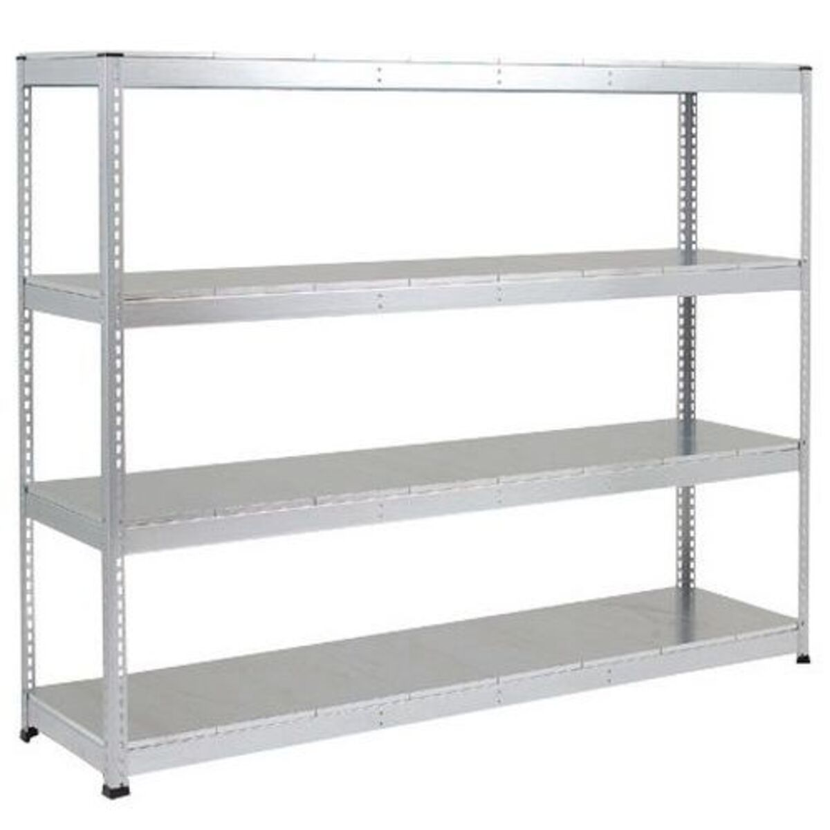 Rayonnage Rapid 1 4 tablettes metal 1980x1830x610 zingue