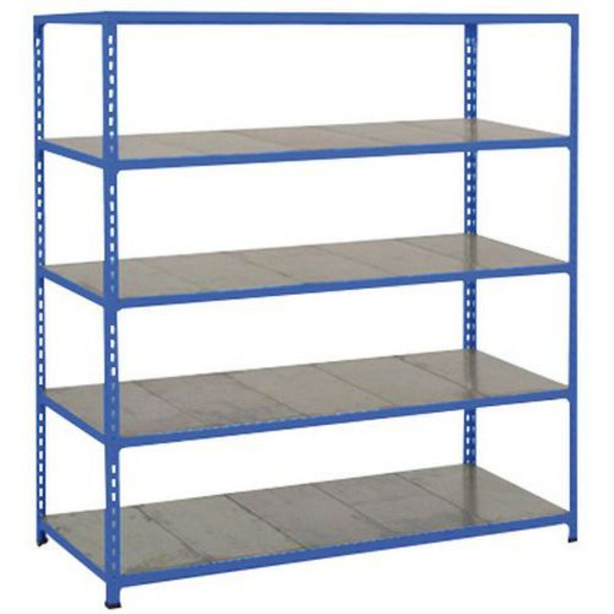 Rayonnage Rapid 2 1980x1525x610 5 tablettes metal bleu époxy