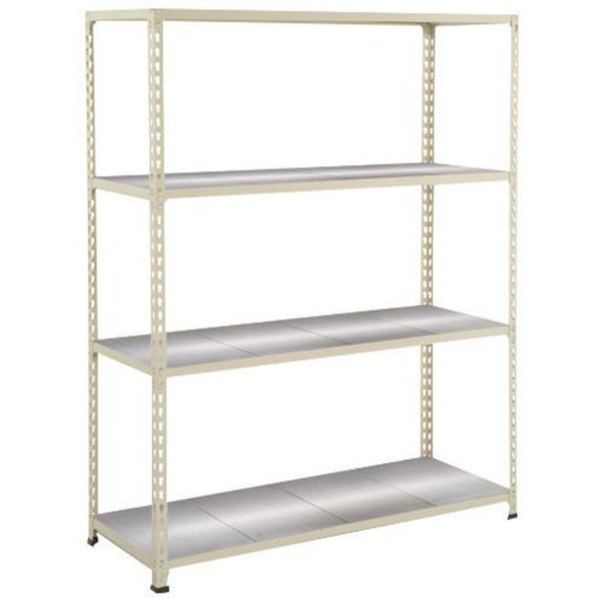 Rayonnage Rapid 2 4 tablettes metal 1830x1220x455 gris clair