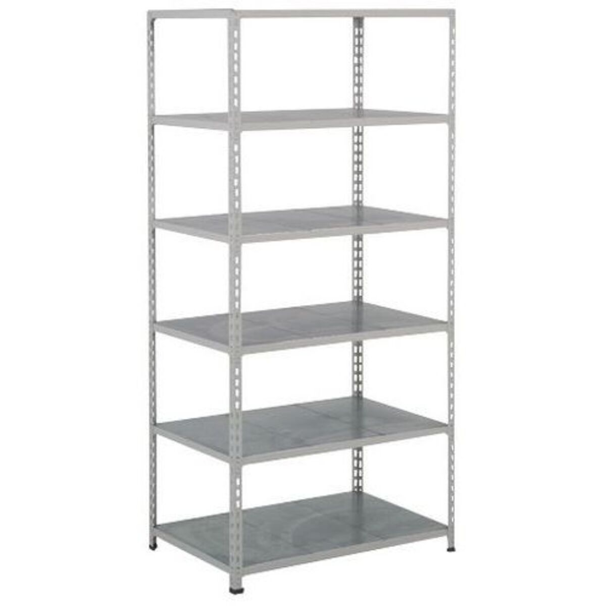 Rayonnage Rapid 2 6 tablettes 1830x915x455 gris clair